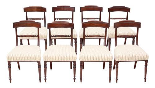 Set of 8 Georgian Mahogany Dining Chairs 19th Century c.1815 (1 of 9)