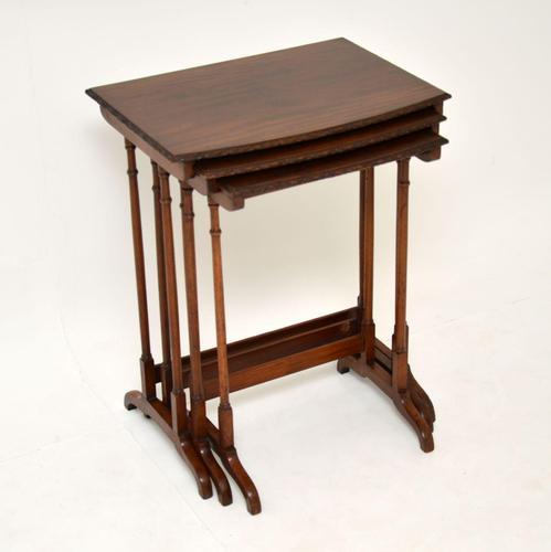 Antique Edwardian Mahogany Nest of  Tables (1 of 11)