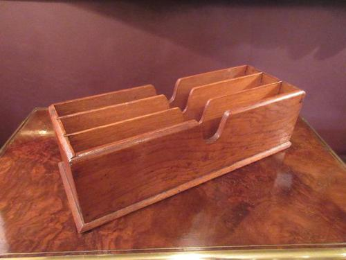 Edwardian Antique Polished Oak Letter Rack (1 of 6)