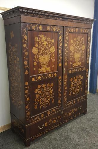 18th / 19th Century Inlaid Dutch Wardrobe (1 of 17)