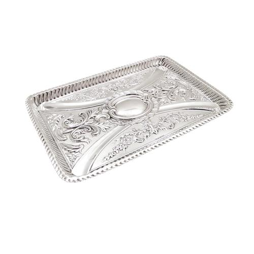 Antique Victorian Sterling Silver Dressing Tray 1898 (1 of 9)