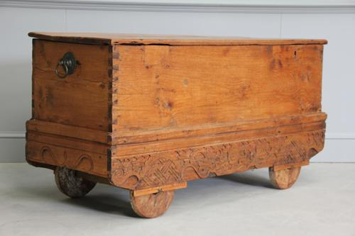 Antique Indian Teak Dowry Chest (1 of 8)