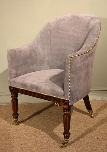 Regency Rosewood Tub Armchair Reupholstered (1 of 8)