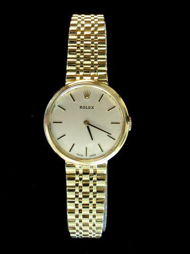 Ladies Gold Rolex Wrist Watch (1 of 5)