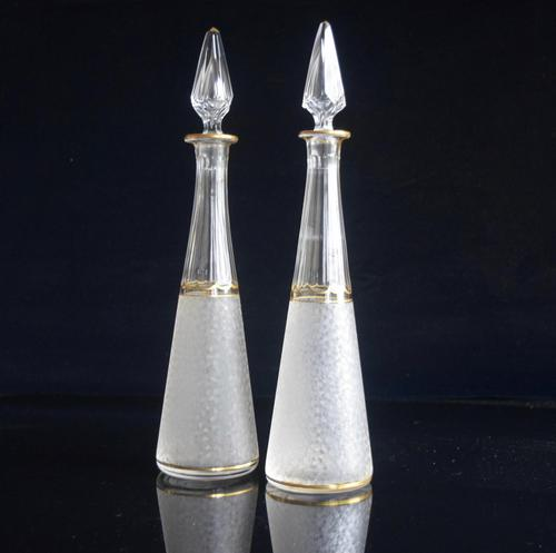 Pair of St Louis Crystal Liqueur Decanters Belle Epoque (1 of 7)