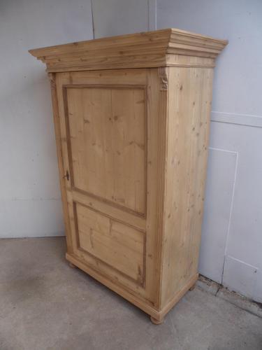 Large 1 Door Victorian Antique Pine Kitchen / Linen Cupboard to Wax/paint (1 of 10)