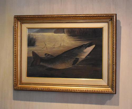 English Naive School Oil of a Pike (1 of 6)