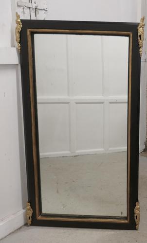 Large French Ebonised & Ormolu Wall Mirror (1 of 5)