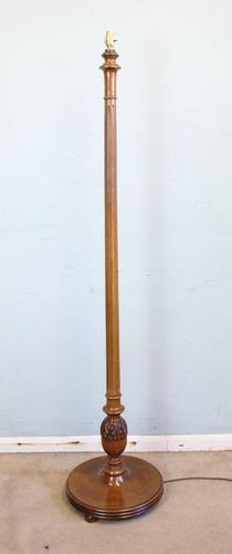 Antique Walnut Standard Lamp (1 of 6)