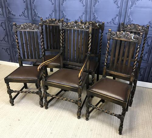 Set of Six Oak Dining Chairs (1 of 11)
