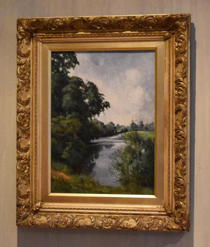 View of the Trent, oil painting by Percy Robinson (1 of 8)
