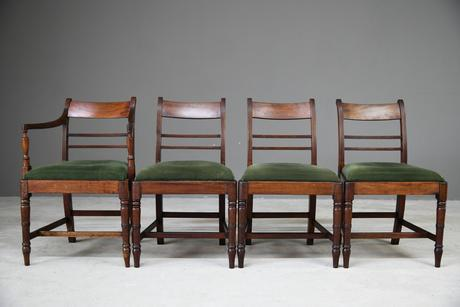4 Antique Georgian Mahogany Dining Chairs (1 of 12)