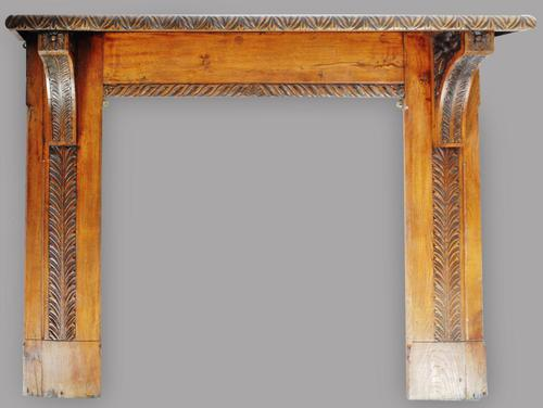 Antique Late 19th / Early 20th Century Victorian Movement Oak Fire Surround (1 of 3)