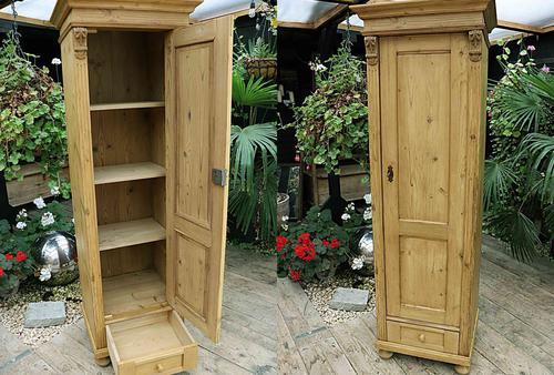 Gorgeous Old Stripped Pine Cupboard / Cabinet / Wardrobe - Hall / Linen / Larder (1 of 11)