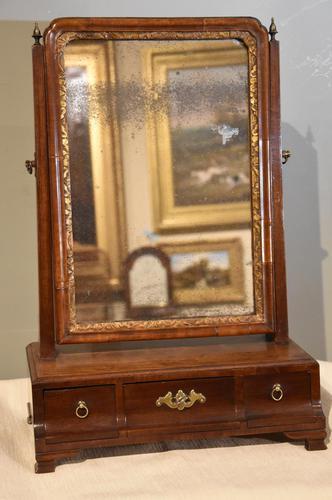 18th Century Mahogany Box Dressing Table Mirror (1 of 4)