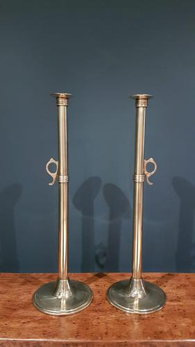 Superb Pair of George III Antique Tall Seemed Candlesticks (1 of 6)