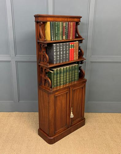 Charming Victorian Mahogany Waterfall Bookcase (1 of 12)