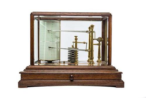 Combined Barograph / Thermograph by R & J Beck, Cornhill, London c.1912 (1 of 4)