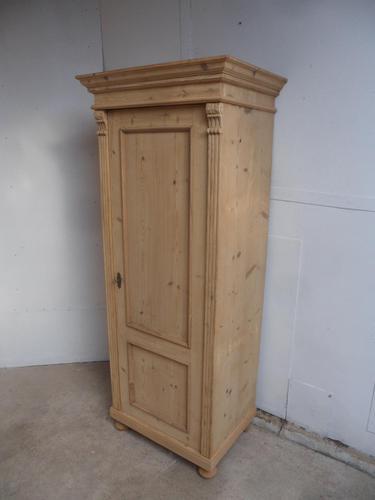 Wide Antique Pine 1 Door Multi Functional Storage Cupboard to wax / paint (1 of 8)