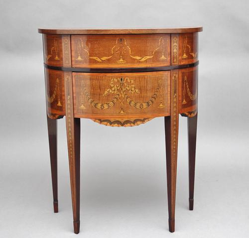 19th Century Mahogany Inlaid Side Table (1 of 11)