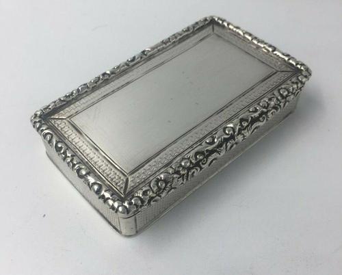Superb Silver William IV Larger Snuff Tobacco Box Edward Smith 1835 (1 of 9)