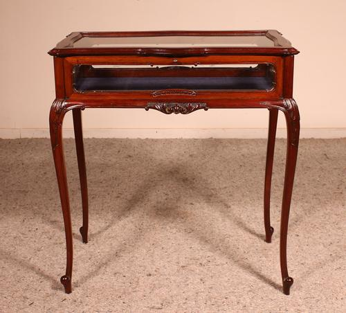 Small Mahogany Showcase Cabinet from Jeweler or Exhibition 19th Century (1 of 12)