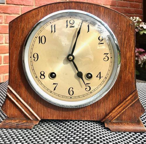 Wonderful 1940's English Chiming Mantel Clock by Garrard. (1 of 7)