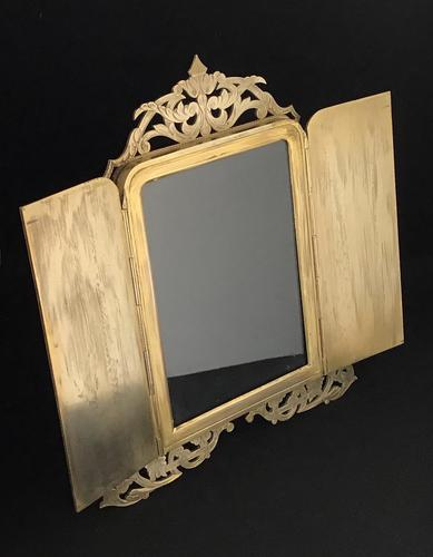 Gothic Revival Brass Two Door Easel Photo Frame (1 of 6)