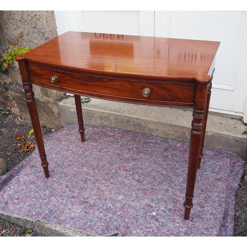 Georgian Mahogany Bow Front Side Table (1 of 6)