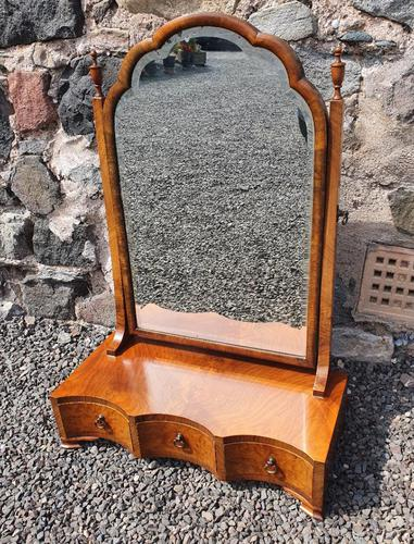 Queen Anne Style Walnut Dressing Mirror (1 of 7)