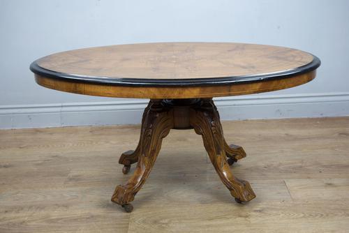 Victorian Walnut Inlaid Coffee Table (1 of 3)