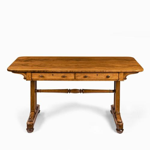 Late Regency Rosewood End Support Table Gillows or Holland & Sons (1 of 8)
