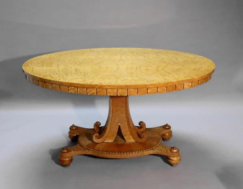 Late Regency Birds Eye Maple Centre Table Attributed to Gillows (1 of 7)