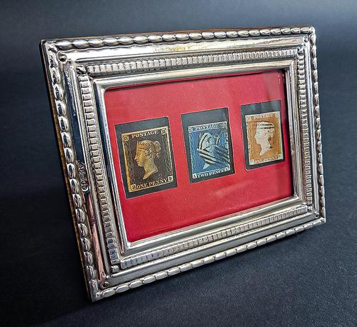 Penny Black and two other stamps framed (1 of 4)