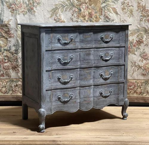 Smaller French Painted Chest of Drawers (1 of 9)