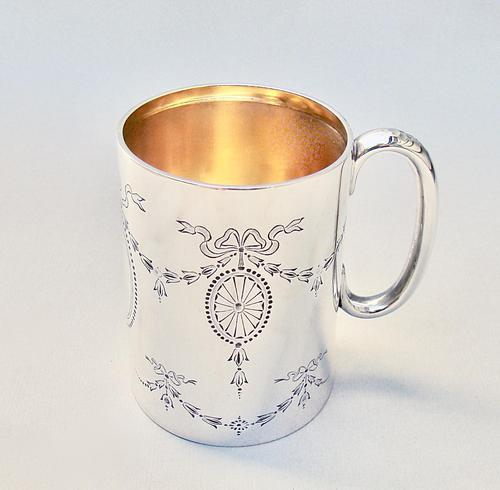 George V Silver Christening Mug by the Atkins Brothers - Sheffield 1920 (1 of 5)