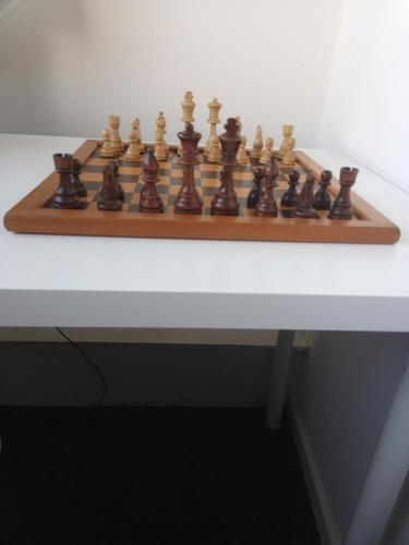 Vintage Carved Wooden Staunton Chess Set (1 of 6)