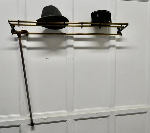 French Art Deco Hat & Coat Rack, Pullman Railway Train Style (1 of 7)