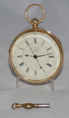 Victorian 18k Gold Gents Chronograph Pocket Watch (1 of 5)