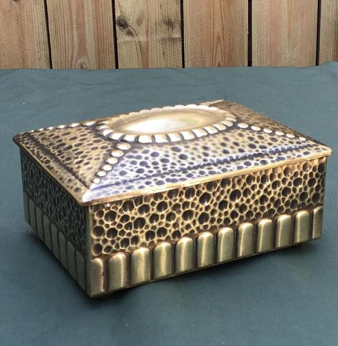 Art Nouveau Brass Trinket / Jewellery Box (1 of 5)