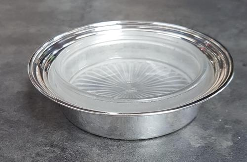 Sterling Silver & Frosted Glass Butter Dish (1 of 4)