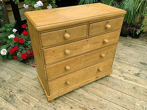 Superb & Large Old Pine Chest of Drawer / Sideboard (1 of 8)