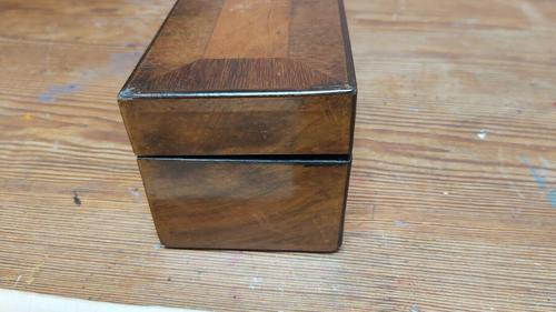 Antique Victorian Gloves Kid Leather Wooden Glove Box & Stretchers (1 of 7)