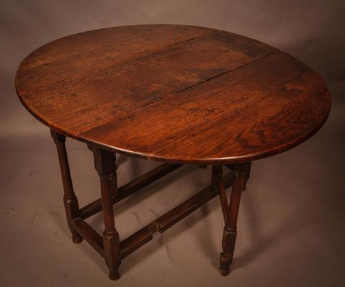 17th Century Gate Leg Dining Table (1 of 8)
