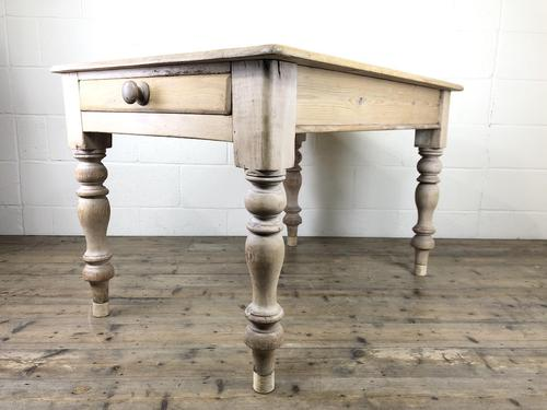 Rustic Antique Pine Farmhouse Kitchen Table (1 of 12)