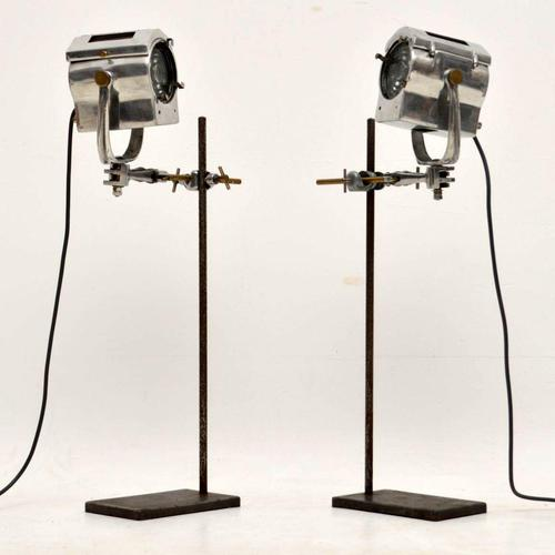 1950's Pair of Vintage Spotlights / Table Lamps (1 of 15)
