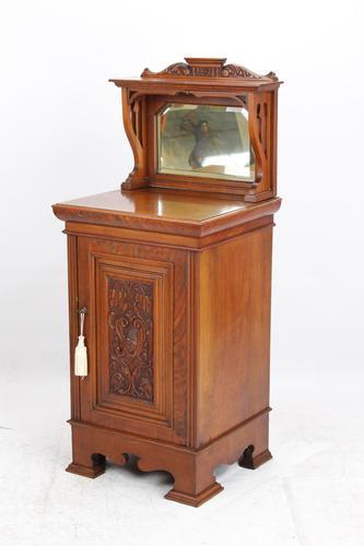 Victorian Arts & Crafts Walnut Cabinet (1 of 13)