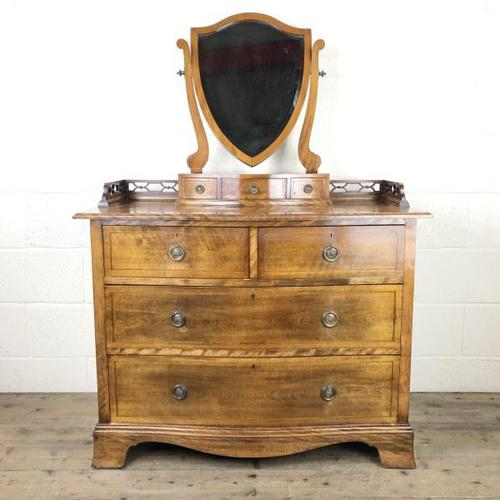 Edwardian Mahogany Serpentine Dressing Table Chest (1 of 9)