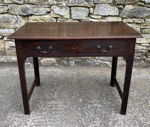 Antique Georgian Oak Side Table (1 of 14)