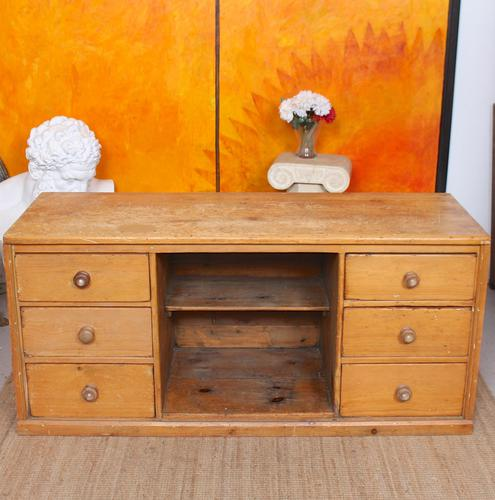 Pine Dresser Base Sideboard 19th Century Desk Country Victorian (1 of 8)